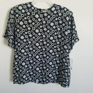 New Notations petite blouse sz~L